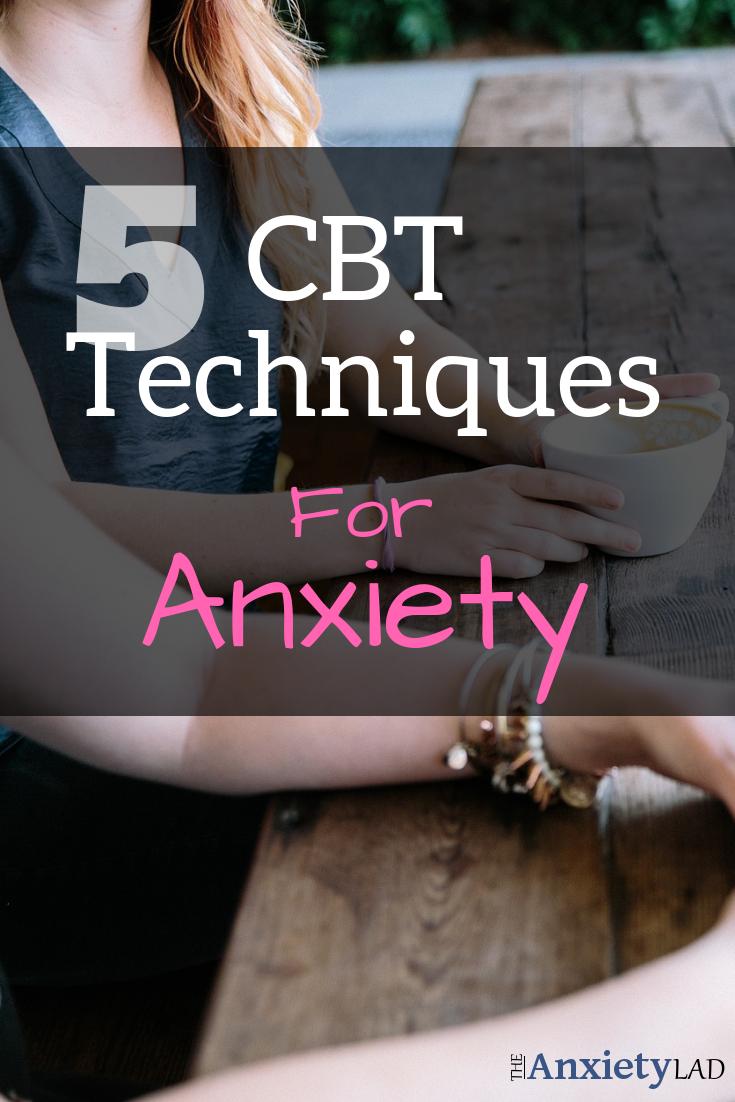 5 CBT Techniques Pinterest Image