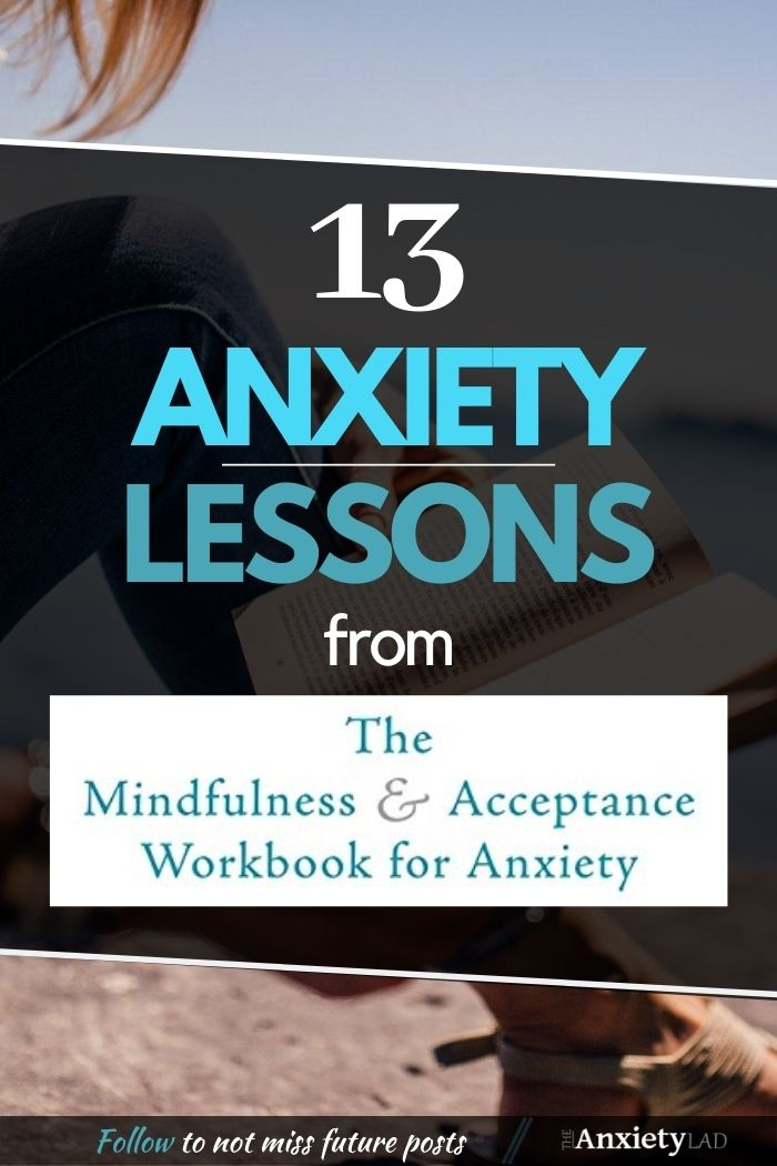 13 Anxiety Lessons ACT Book Pin Image