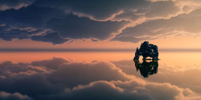 Relaxing cloudy scene
